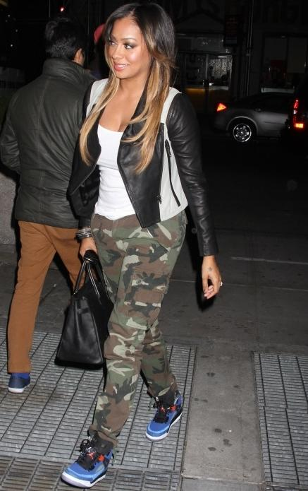 Lala-Anthony-Yigal-Azrouel-Leather-Sleeve-Jacket-Camouflage-Pants-Jordan-Sneakers